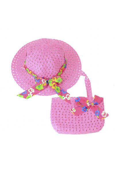 Шляпа детская 22017-3 малиновый