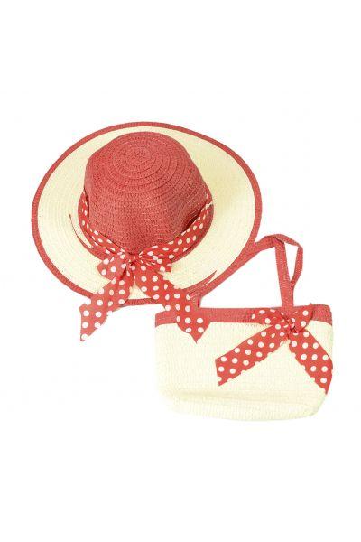 Шляпа детская 22017-5 бордовый