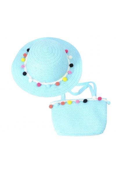 Шляпа детская 22017-7 голубой