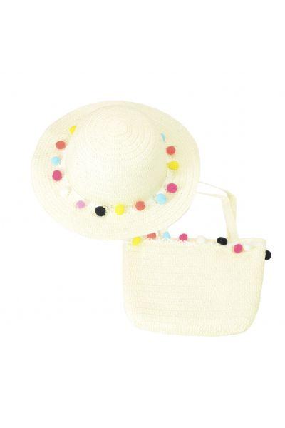 Шляпа детская 22017-7 молочный