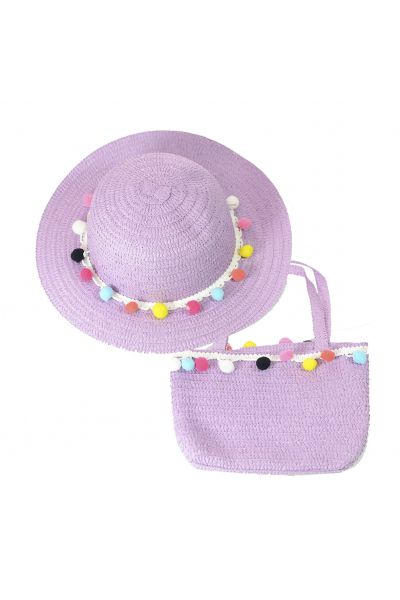 Шляпа детская 22017-7 фиолетовый