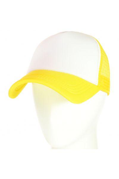 Бейсболка 62017-1 белый-желтый