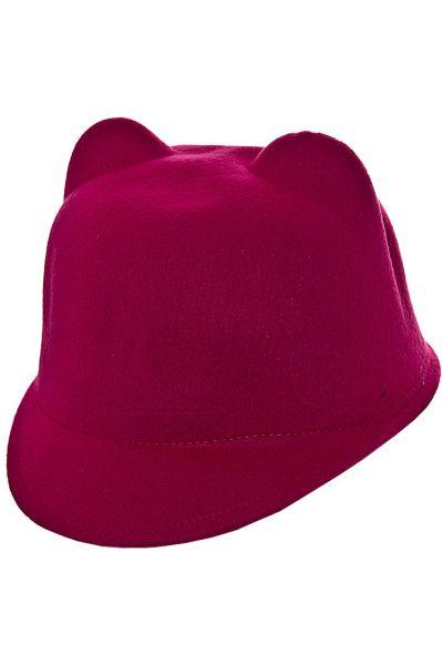 Шляпа фетровая детская FD16005 малиновый