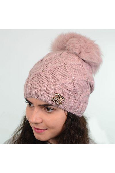 Шапка SF19220 пудра-розовый