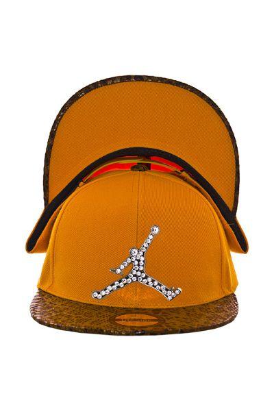 Кепка с прямым козырьком RB15017 оранжевый-коричневый