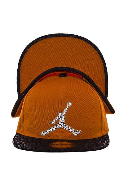 Кепка с прямым козырьком RB15017 оранжевый-черный